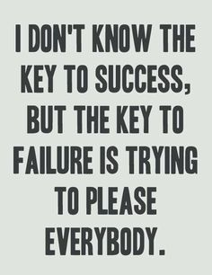 Key to failure...