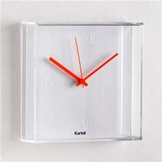 Kartell Tic Tac Matt White Clock by Philipe Starck - Living Room Contemporary Clocks, Aesthetic Experience, White Clocks, Philippe Starck, Chrome Plating, Interior Design Inspiration, Decoration, Modern Furniture, Cool Things To Buy