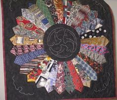 Make a quilt out of dad's old ties.