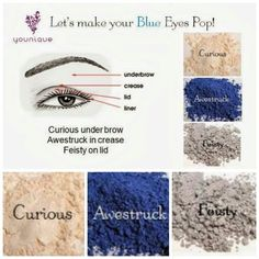 Let's make your blue eyes pop using Younique's Moodstruck Mineral pigments!