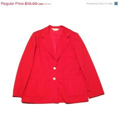 20 OFF SALE size 16 Vintage blazer sweater coat by KddOccessories, $8.00