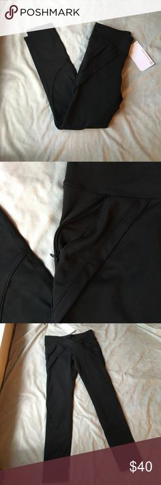 NWT black fabletics leggings Very comfy and cute fit. A great sturdy fabric. Has zipper pockets on the front of both legs! I ❤️ offers Fabletics Pants Leggings
