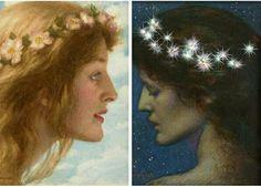 Day and night by Edward Arthur hughes. Pre-Raphaelites.