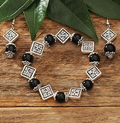 Black Celtic Bracelet at Creative Irish Gifts.
