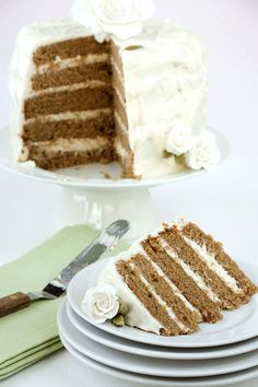 chai cake with honey ginger cream frosting