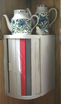 Upcycled breadbin - breadbin storage cupboard. So good!