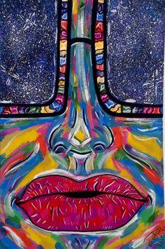 арт рисунок иллюстрация девушка  очки губы космос art drawing atatay girl glasses lips space