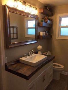 Stunning 39 Unordinary Wood Tile Design Ideas For Bathroom. Source by decorkeun Wooden Bathroom Countertop, Backsplash For White Cabinets, Black Backsplash, Beadboard Backsplash, Wood Bathroom, Wood Countertops, Travertine Backsplash, Backsplash Ideas, Bathroom Ideas