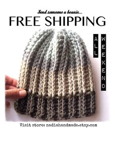 Wool Handmade BEANIES - Free Shipping - $42 nadiahandmade.etsy.com