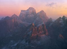 Italy: Sunset. Dolomite Mountains. Photographed by Nicola Pirondini. [2000 x 1466]