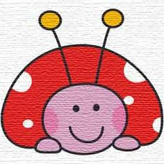 Free embroidery designs ladybug with pink face