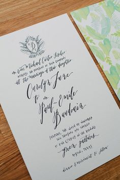 Hand lettered wedding invite   Photo by The Nichols   Read more - http://www.100layercake.com/blog/?p=67856