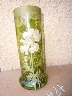 Vase Legras verre émaillé Art Nouveau  /C4