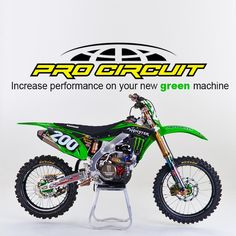 We have exciting news from the Pro Circuit camp for all Kawasaki owners! It's time to increase performance on your new green machine. New Green, Exciting News, Website Link, Motorbikes, Motorcycles, Motorcycle