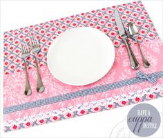 Layered Tea Time Placemats | Sew4Home