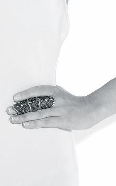 Articulated Filigree Ring - fashion armour; statement jewellery // Loree Rodkin