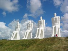 "Esbjerg southern Denmark, Svend Wiig Hansen's monumental sculpture ""Man meets the Sea"""