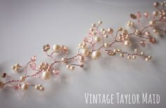 Rose Gold Hair Vine Blush Pink Ivory Pearl by VintageTaylorMaid on Etsy https://www.etsy.com/ca/listing/468448286/rose-gold-hair-vine-blush-pink-ivory