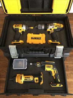 Battery Reconditioning - Dewalt Tough System with Kaizen inserts - Save Money And NEVER Buy A New Battery Again Dewalt Tough System, Power Tool Storage, Dewalt Power Tools, Work Tools, Tool Organization, Find Picture, Tools And Equipment, Garage Storage, Diy Garage