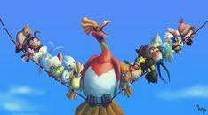 For The Flying Types by LynxGriffin.deviantart.com on @deviantART