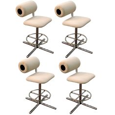 Set of four 70's bar stools by Herman Miller