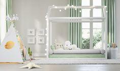 Cama casinha montessoriana branca!