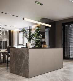 Residential interior with natural materials on Behance Luxury Kitchen Design, House Design, Interior Design, House Interior, Interior, Residential Interior, Bathroom Design, Luxury Kitchen, Home Decor