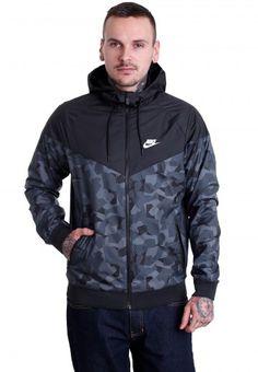 Nike - Windrunner Mix AOP BDLNDS Black/Black/White - Chaqueta - Tienda de marcas - Impericon.com ES
