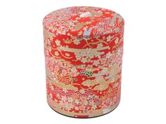 Printed Washi Covered Decorative Tea Canister