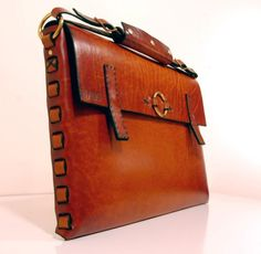 large leather portfolio - by HAUSleather