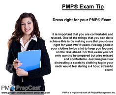#PMP Exam Tip: Dress right for your PMP Exam