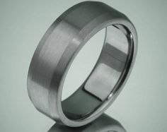 Titanium Wood Ring Custom Comfort Fit Wedding Band by usajewelry