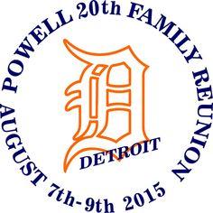 Powell Family Reunion, Detroit #reuniontees #ctp365 #reuniontshirts #familyreuniontshirts