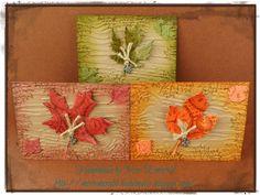 Autumn ATC cards