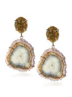 Melissa Joy Manning Druzy Agate & Stalactite Earrings, http://www.myhabit.com