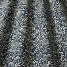 From the exclusive ILIV Cotswold Collection, Hathaway is a printed cotton fabric featuring a traditional damask pattern that will bring a touch of luxury to your room. Large Curtains, Pink Curtains, Curtain Store, Curtain Fabric, Sheep Fabric, Custom Made Curtains, Fabric Remnants, Classic Interior, William Morris