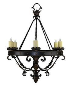 CH-023 6 Light Chandelier Hacienda Lights and Iron