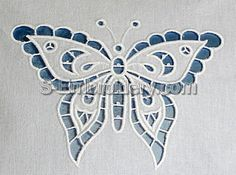 Butterfly cutwork lace embroidery design