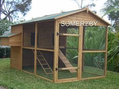 @breedferrell look what I found when I was looking at rabbit hutches for Polly. This could be used for Sull....it's $600 but look at the design...roof, little house and whatnot! Large Outdoor Cat Enclosure/Rabbit Hutch