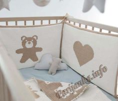Бортик для детской кроватки с жаккардом (д) 07*108 Phildar №4187