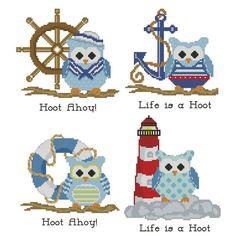 Hooties Nautical Collection Cross Stitch Pattern von PinoyStitch