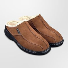 Orthofeet Asheville Mens Comfort Arthritis Diabetic Orthotic Brown Leather Slippers