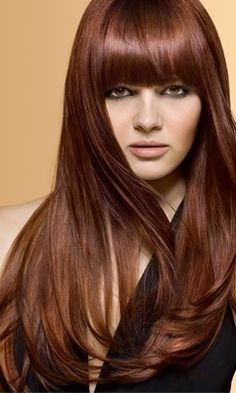 how to get brown hair really red