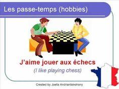 French Lesson 21 - Talk about HOBBIES SPORTS (passe-temps) Vocabulary Lecciones de Frances