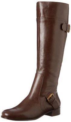 Nine West Women's Sookie Boot,Dark Brown