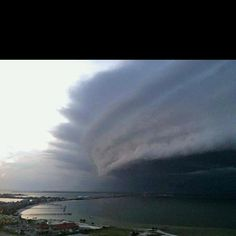 Hurricane Irene approaching the coast. Sorry I lost my source but it was all over the Internet....