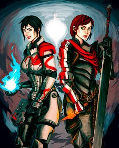 dragon age mass effect hawke shepard femshep the mass effect blood dragon armor looks different but i wanted it to clearly be armor itsdoodletime Hawke Dragon Age, Dragon Age 2, Dragon Age Inquisition, Mass Effect Crossover, Mass Effect Art, Dragon Armor, Dragon Age Series, Dragon Age Games, Commander Shepard
