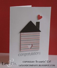 Congrats new home by Stampin' Up! demo Jana Burke at lexandcompany.blogspot.com