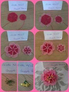 This Pin was discovered by TC Yarn Crafts, Diy And Crafts, Needle Lace, Lace Making, Lace Flowers, Needlepoint, Tatting, Needlework, Crochet Earrings