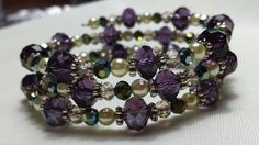 Purple Memory Wire Bracelet by CinsWhims on Etsy, $25.00